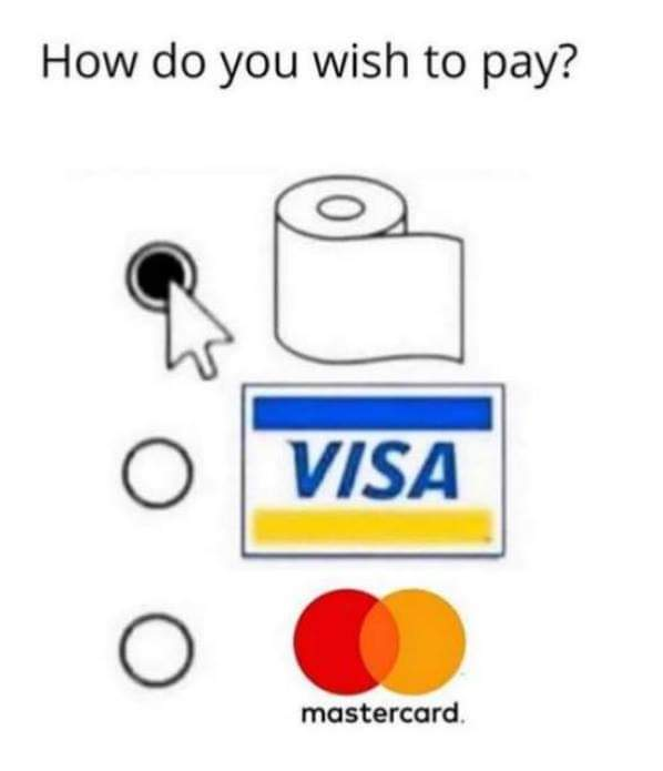 toilet paper payment